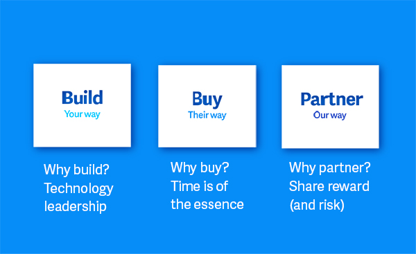 Build, buy and partner