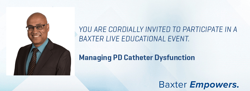 Managing PD Catheter Dysfunction