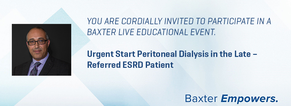 Urgent Start Peritoneal Dialysis in the Late – Referred ESRD Patient